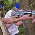 Laser Tag: Shooting through the trees
